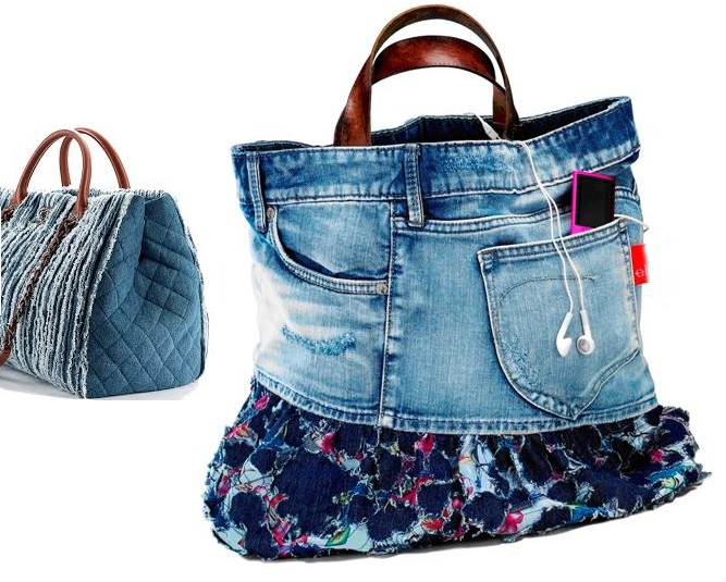 Come realizzare una borsa in denim con vecchi jeans for Borsa jeans tutorial