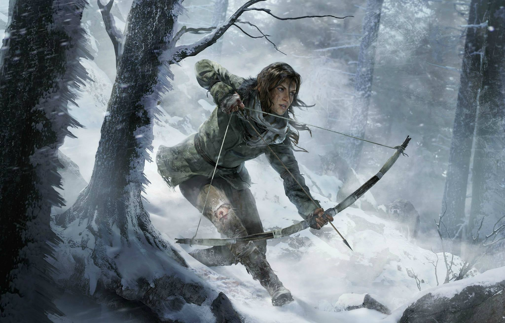 Rise of the Tomb Raider compare in versione PS4